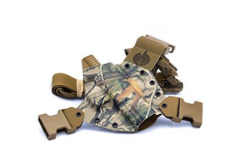 GunfightersINC Kenai Chest Holster for Glock 202140 MOS Next Camo VistaCoyote Right Hand