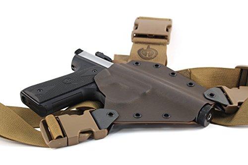 GunfightersINC Kenai Chest Holster for Ruger 2245 LiteMark III IV MAS GreyCoyote Right Hand