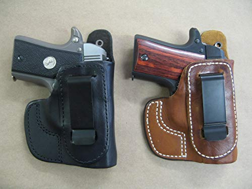 Azula IWB in The Waist Band Leather Concealed Carry Holster for Llama Micro 380 CCW TAN RH