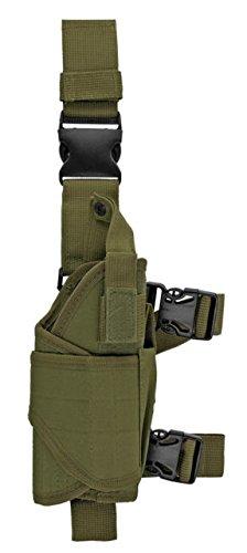 A&N Drop Leg Holster Right Handed Tactical Gun Holster Green