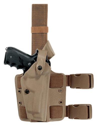 Safariland 6004 Earth Brown Colt 1911 SLS Hood Tactical Gun Holster Right Handed STX Flat Dark Earth