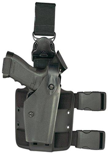 Safariland 6005 Tactical Gun Holster SLS Hood Quick Release Leg Harness Black Left Handed Surefire X200 Light Mount Glock 17 22