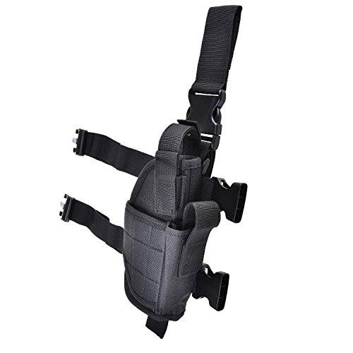CVLIFE Adjustable Right Handed Tactical Leg Holster for Pistol and Handgun