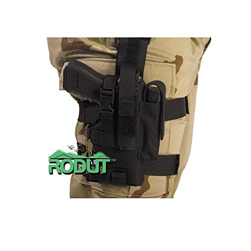 Rodut TM Adjustable Right Handed Tactical Leg Holster For Pistol Black