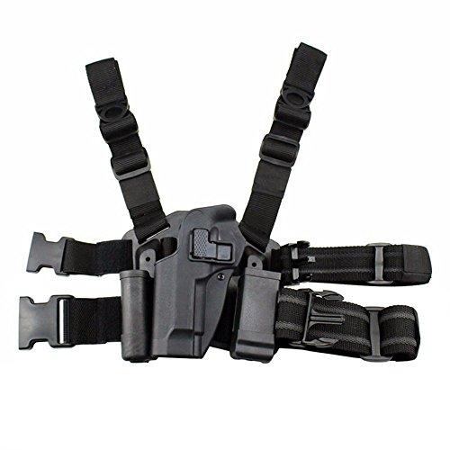 quanlei Tactical Leg Holster Left Hand Paddle Thigh Belt Drop Pistol Gun Holster wMagazine Torch Pouch for Beretta M9 M92