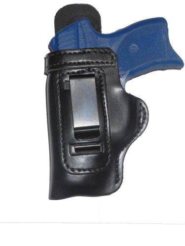 Taurus 247 G2 Compact Leather Gun Holster Pro Carry HD w Slide Guard Left Hand IWB Black