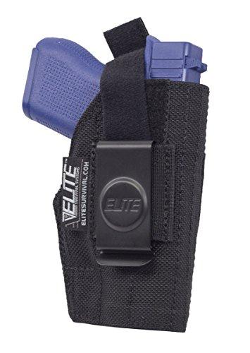 Elite Survival Systems ELSBCH-7L Inside The Pant Clip Iwb Fits Ruger Holster Black 7L