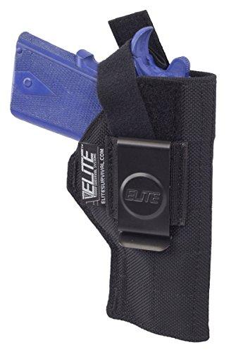 Elite Survival Systems ELSBCH-8 Inside The Pant Clip Iwb Fits Colt Defender Para Ordnance HolsterSize 8 Black