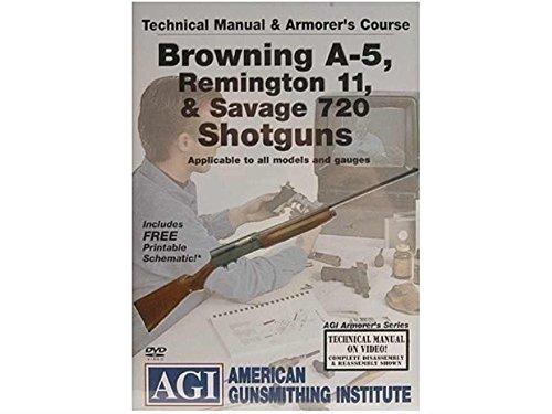AGI DVD Manual Course Browning A-5 Remington 11 Savage 720 Shotgun  Ultimate Arms Gear Gunsmith Cleaning Gun Mat  12 Gauge Cleaning Kit  Cleaner Spray Can  Cloth  Wipes  Extreme Gun Grease