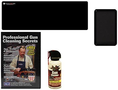 AGI DVD Professional Gun Cleaning Course Secrets Glock Model 17 17L 18 19 20 21 22 23 24 24C 31 32 37 Pistol Handgun  Ultimate Arms Gear Gunsmith Mat  Gun Cleaner Protector Spray  Magnetic Tray