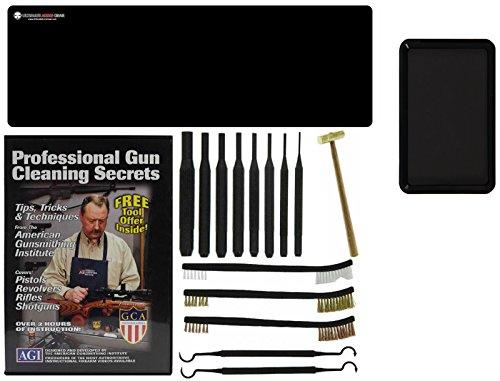 AGI DVD Professional Gun Cleaning Course Secrets Ruger Mark MK 1 I 2 II 3 III 4 IIII SR Series SR9 SR40 Pistol  Ultimate Arms Gear Gunsmith Mat Punch Kit  Hammer  Brush Pick Set  Magnetic Tray