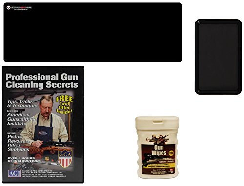 AGI DVD Professional Gun Cleaning Course Secrets Saiga Rifle 762 308 410 Shotgun 12 20 GA Gauge  Ultimate Arms Gear Gunsmith Cleaning Gun Mat  Gun Wipes Pop-Up  Magnetic Parts Tray