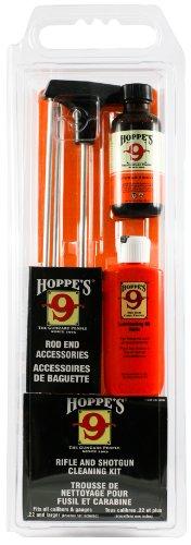 Hoppes No 9 Cleaning Kit with Aluminum Rod Universal RifleShotgun Clamshell