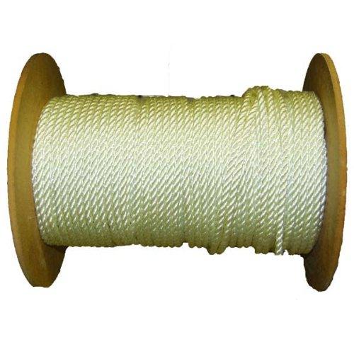 AMR200-11200016  200 Ft Aamstrand 12 Strand Twisted Nylon Rope - White