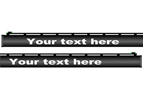Custom shotgun barrel decals your text comes as set of 3