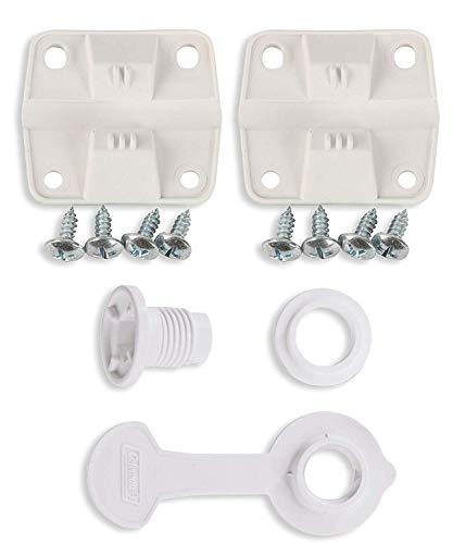 Coleman Cooler Plastic Hinge Set Standard Drain Plug Assembly ComboBundle