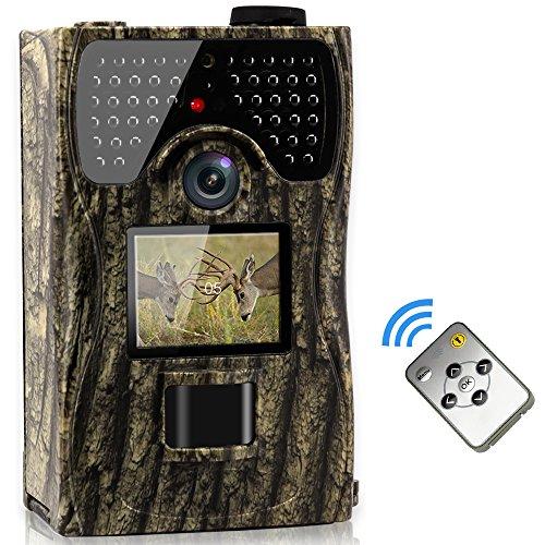 VENLIFE Trail Camera 12MP Full HD 1080P 90° PIR Sensor Wildlife Hunting Camera 65ft Infrared Scouting Camera with Night Vision 48pcs IR LEDs IP55 Waterproof 02s Trigger Time Game Camera