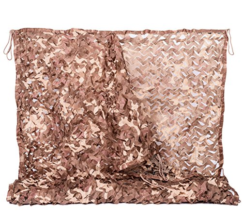 NINAT Desert Camo Netting Camouflage Net Military for Camping Hunting Shooting Sunscreen Nets 65x10ft10x10ft13x165ft20x20ft