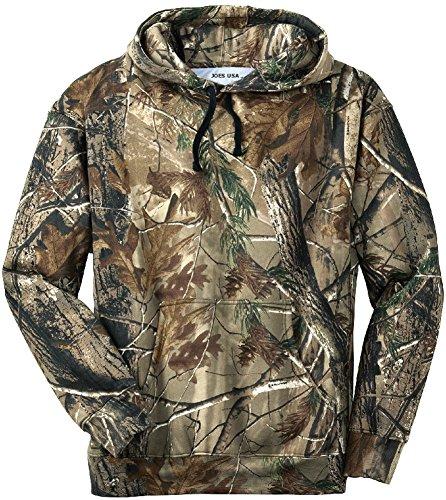 Joes USA TM - Realtree Hoodie Pullover Sweatshirt- Camo Hooded Hunting Sweatshirts Size-Large