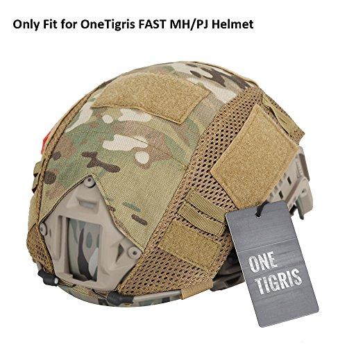 OneTigris Camouflage Cover for OneTigirs FAST MHPJ Helmet in Size SM Multicam