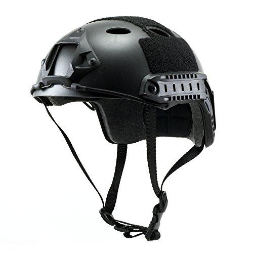 Tactical Crusader Lightweight Tactical Helmet Black Fully adjustable