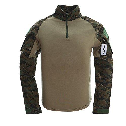 TACVASEN Mens Camouflage Camo Athletic Assault Long Sleeve T-shirt Tops Jungle