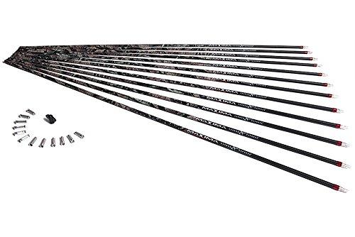 Carbon Express Maxima Hunter BuffTuff Carbon Arrow Shaft Size 250 12-Pack Mossy Oak Treestand Pattern