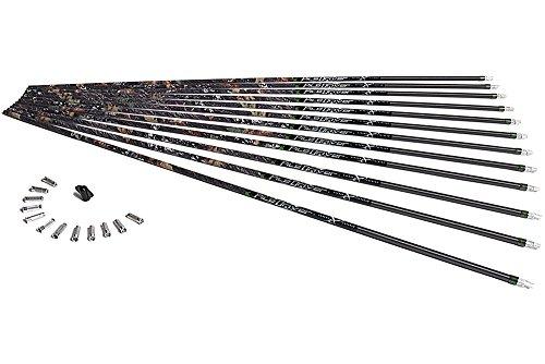 Carbon Express PileDriver Hunter BuffTuff Carbon Arrow Shaft Size 350 12-Pack Mossy Oak Brush Pattern