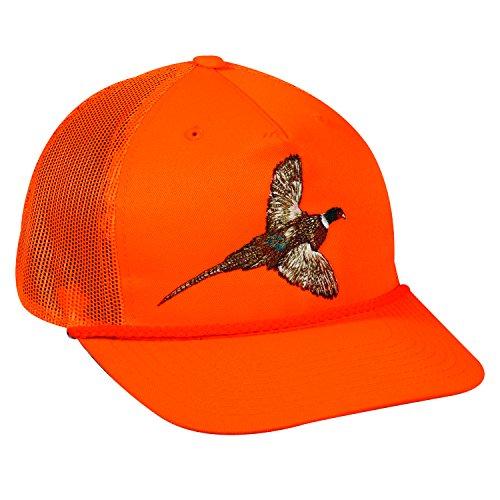 Outdoor Cap Adjustable Closure Pheasant Cap BlazeOrange