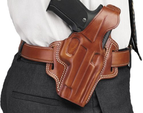 Galco Fletch High Ride Belt Holster for 1911 3-Inch Colt Kimber Para Springfield Tan Right-hand