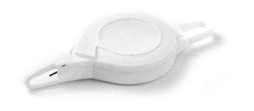 Key-Bak Z-BAK Retractable Reel with 36-Inch Nylon Cord Flexible Mini-Carabineer Attachment and Flexible ID Flex-Hook White