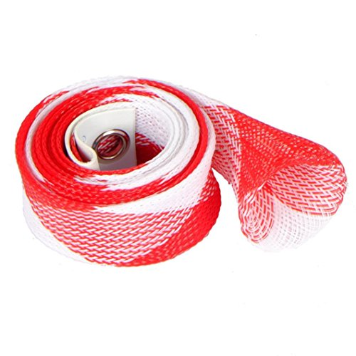 SMYTSHOP New 30mm 170cm Casting Fishing Rod Sleeve Cover Pole Glover Tip Protector Bag Sock RedWhite