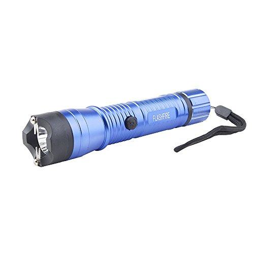Monster FlashFire Dual-Spark Stun Gun Flashlight 16 Million Volts Ultra Bright LED Bulb Rechargeable Blue