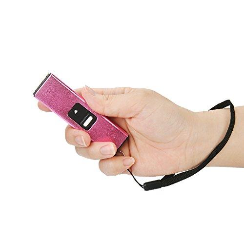 Reax 10 Million Volt Micro USB Keychain Stun GunRechargeable with LED Flashlight Pink