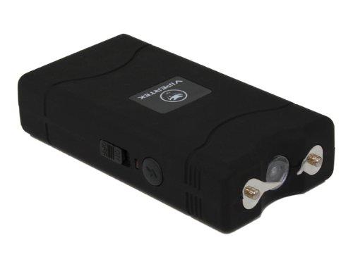 VIPERTEK VTS-880-30 Billion Mini Stun Gun - Rechargeable with LED Flashlight Black