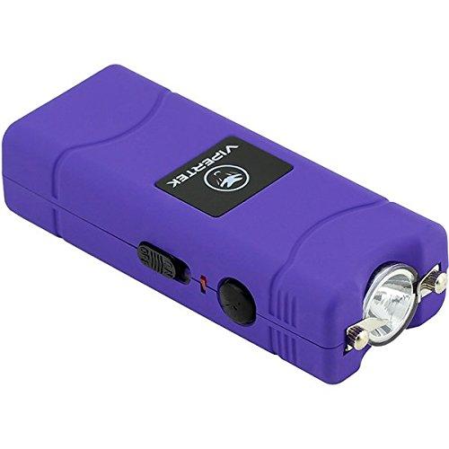 VIPERTEK VTS-881 - 35 Billion Micro Stun Gun - Rechargeable with LED Flashlight Purple