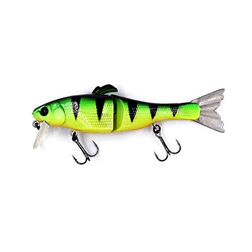 ENjort Jointed Fishing Lures Life-like Swimming Swimbait Hard Bait Minnow Bass Bait Color 1