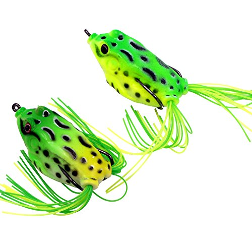 Threemart Fishing Lures For FreshwaterTopwater Frog Crankbait Tackle Bass Soft Swimbait Lures Crankbaits Hard Bait 2pc