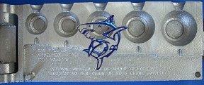 Ear Ball Lure Mold EBL-5-XLF 2 3 4 6 8 oz