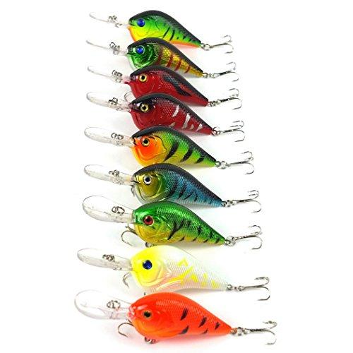 Aorace 9pcslot Crankbait Fishing lures 6 Hooks Crank Hard Bait Artificial Fish Lure Fishing Tackle Wobbler 95cm 112g