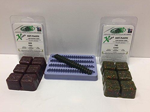 4 Rib Body Soft Plastic Stick Bait Lure Making Starter Kit - Fisherman Gift - FUSION X FISHING 2240MC Crinkle X