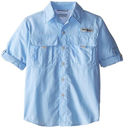 Columbia Boys Bahama Long Sleeve Shirt Sail Large