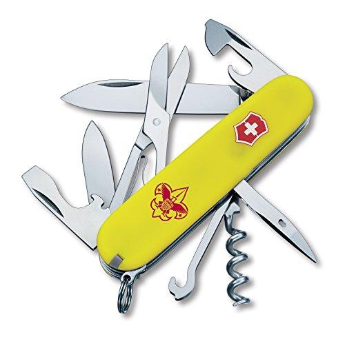 Victorinox Swiss Army 54389 Climber Boy Scout Knife 91mm Stayglow Yellow