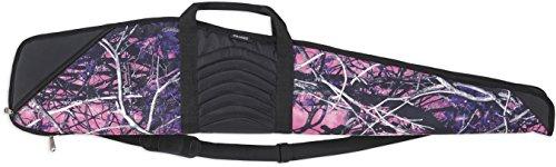 Bulldog Cases Pinnacle Black Leather Rifle Case Muddy Girl Camo with Black Trim 48-Inch