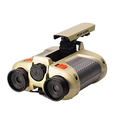 Elikeable EL 4x30 Night Scope Binoculars Telescope with Pop-up Spotlight Fun Cool Toy Gift for Kids Boys Girls
