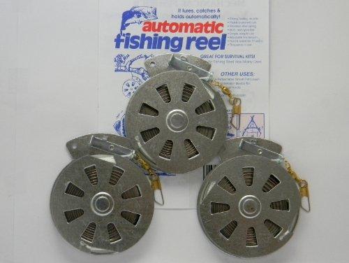 3 Mechanical Fishers Yo Yo Fishing Reels -Package of 3 Reels- Yoyo Fish Trap -FLAT TRIGGER MODEL