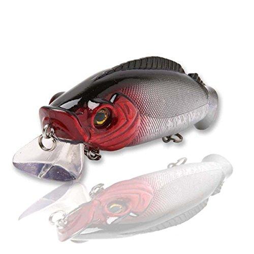 MOOKZZ Fishing Lures MINNOW Bait Set - Japan Hook Floating Fishing Lure Saltwater Freshwater Bass Trout Walleye Muskie L027-F