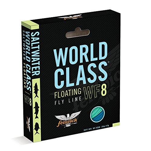 fenwick Wcflsapf8 World Class Saltwater All-Purpose Floating Fishing Line Sky BlueOcean Blue 100 230 Grains