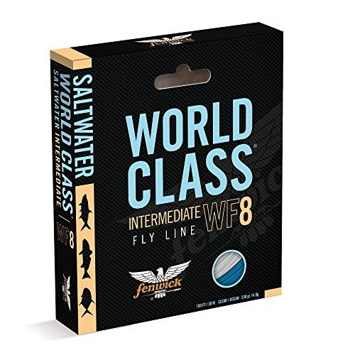 fenwick Wcflsif8 World Class Saltwater Intermediate Floating Fishing Line IvoryOcean Blue 100 230 Grains