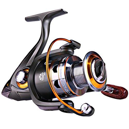 Sougayilang Spinning Fishing Reels Smooth 11BB For Inshore Boat Rock Freshwater Saltwater FishingDK2000